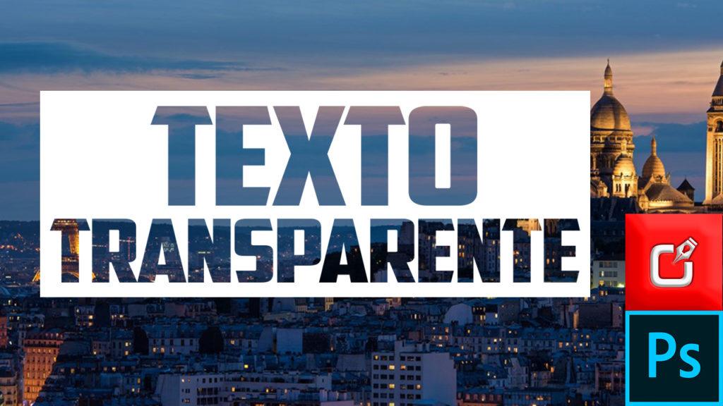 TUTORIAL PHOTOSHOP CS6, Como Hacer Efecto De Texto Transparente 1
