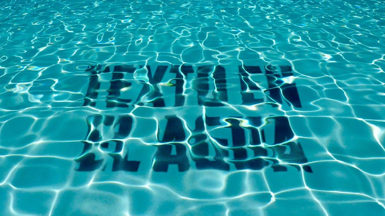 efecto de texto bajo el agua en photoshop