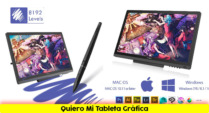 Tableta-grafica-HUION-KAMVAS-GT-191-19.5 Diseños-Creativos