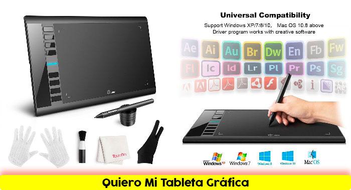 Tableta gráfica Ugee M708 Diseños Creativos
