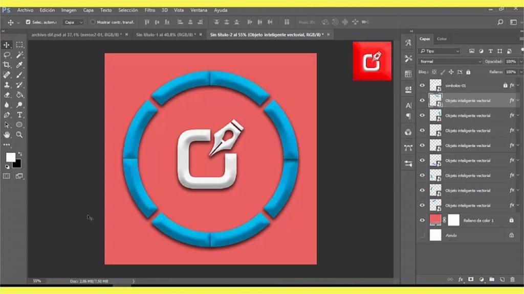 PHOTOSHOP CS6, Como hacer un archivo Gif Animado en logo 1