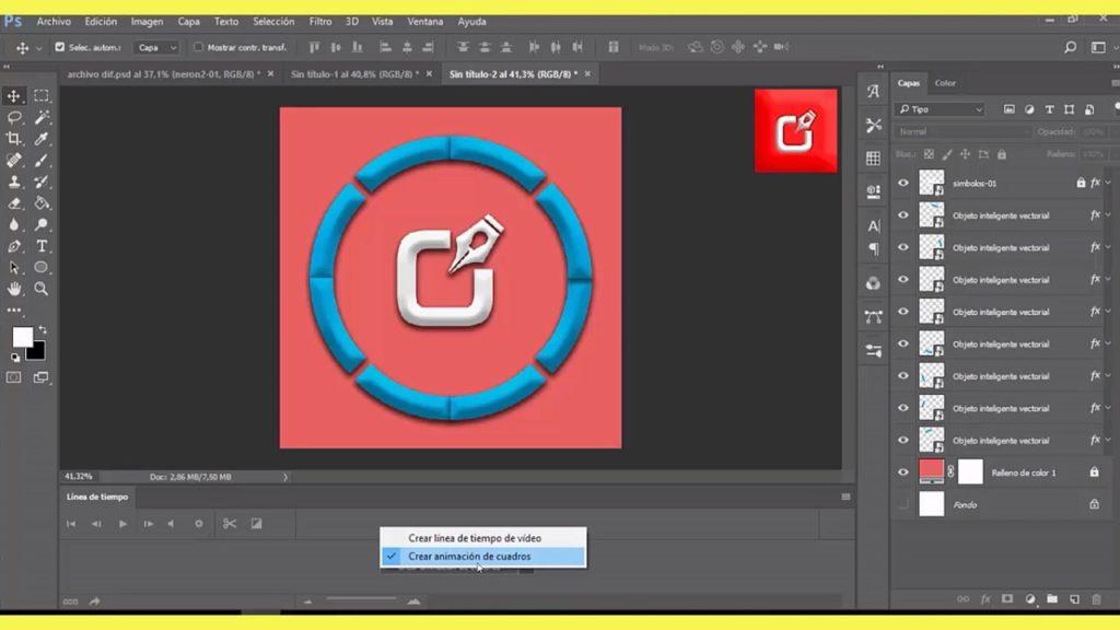 PHOTOSHOP CS6, Como hacer un archivo Gif Animado en logo 3