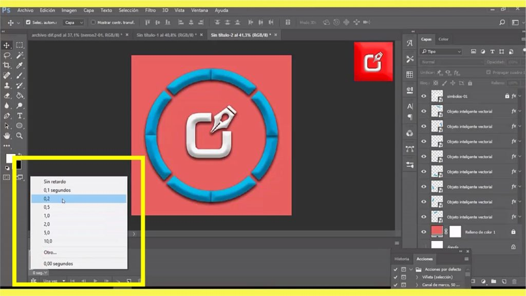 PHOTOSHOP CS6, Como hacer un archivo Gif Animado en logo 4