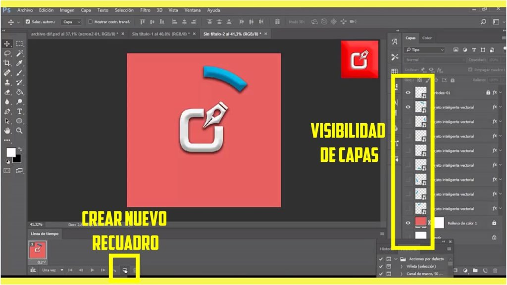 PHOTOSHOP CS6, Como hacer un archivo Gif Animado en logo 5