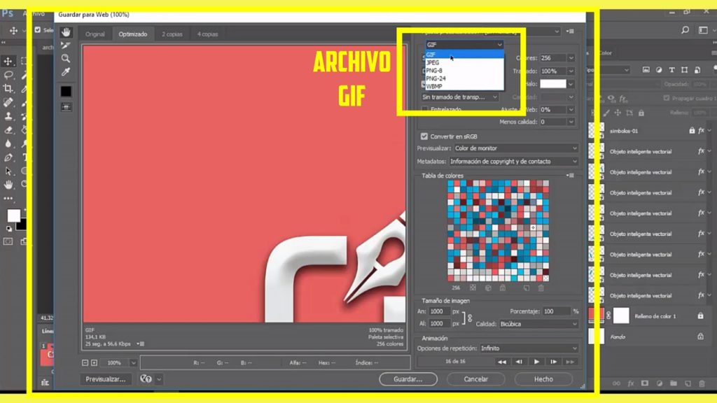PHOTOSHOP CS6, Como hacer un archivo Gif Animado en logo 8