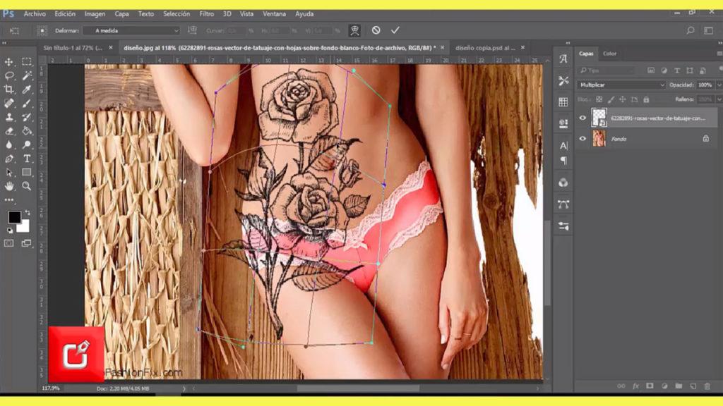 TUTORIAL PHOTOSHOP CS6, Como Hacer fotomontaje, de tatuaje en una persona 5