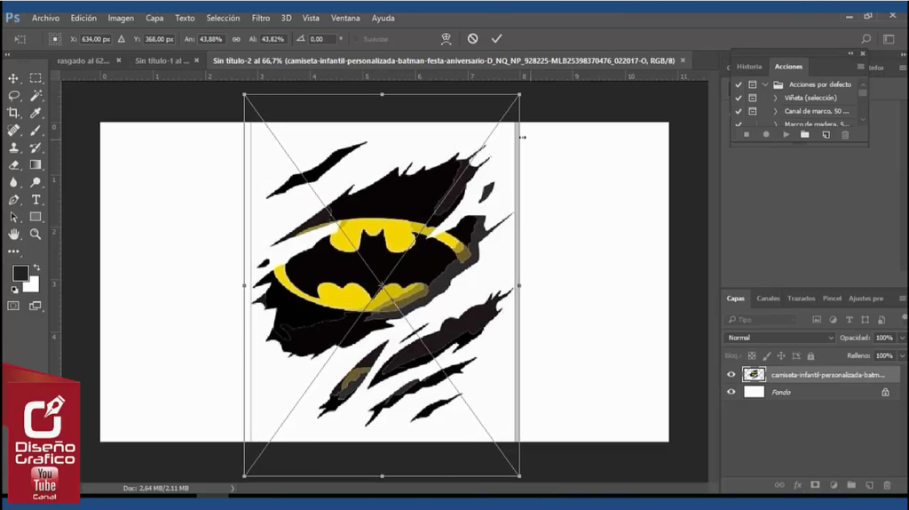 Como Hacer Efecto de Rasgado en Photoshop cs6