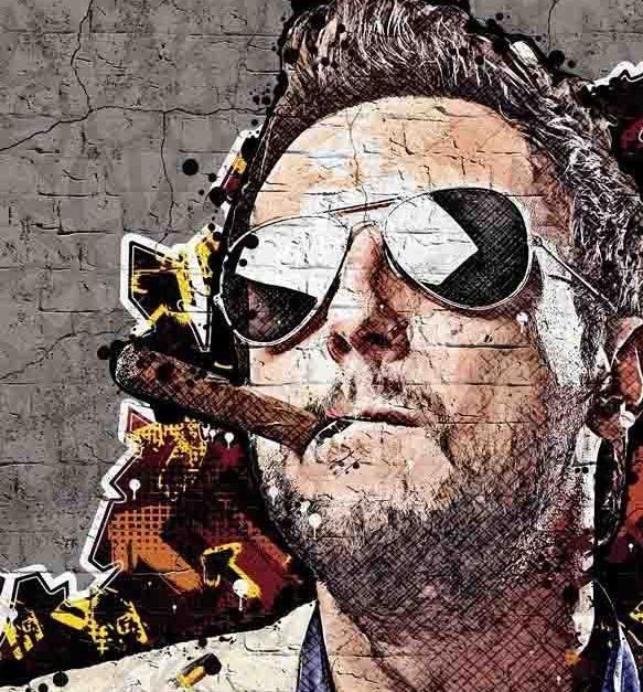 efecto graffiti www.diseñoscreativos.com