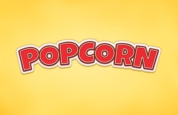Popcorn-efecto de texto