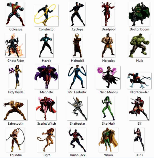 50 Imágenes HD en PNG super heroes de Marvel