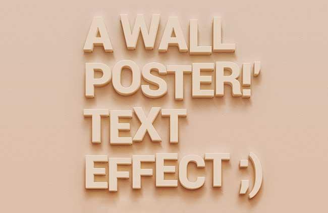 Wall Poster efecto de texto