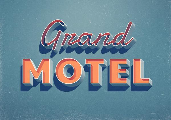 Grand Motel efecto de texto