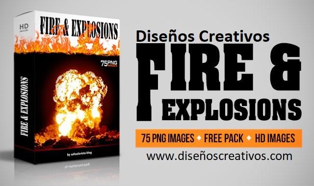 imágenes de explosiones con fuego png diseñoscreativos.com