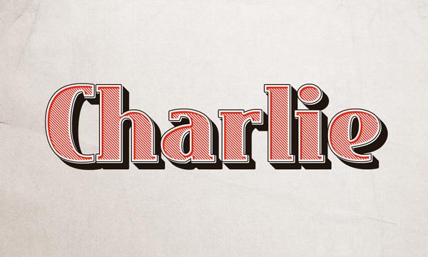 Charlie-efecto de texto