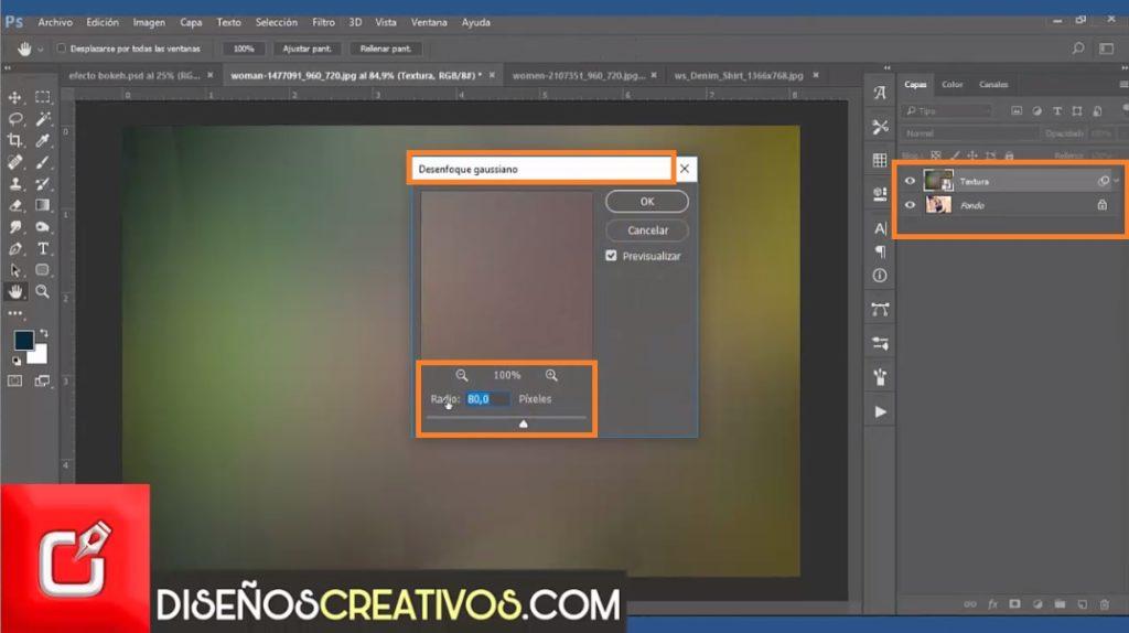 PHOTOSHOP CS6 TUTORIAL, Como hacer Efecto Bokeh , diseñoscreativos 23