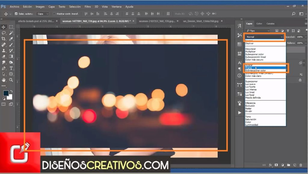 PHOTOSHOP CS6 TUTORIAL, Como hacer Efecto Bokeh , diseñoscreativos 25