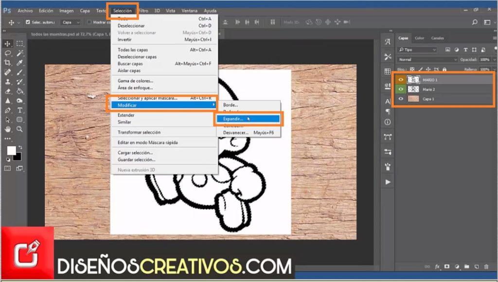 PHOTOSHOP CS6 TUTORIAL, como hacer imagen grabada en madera 3