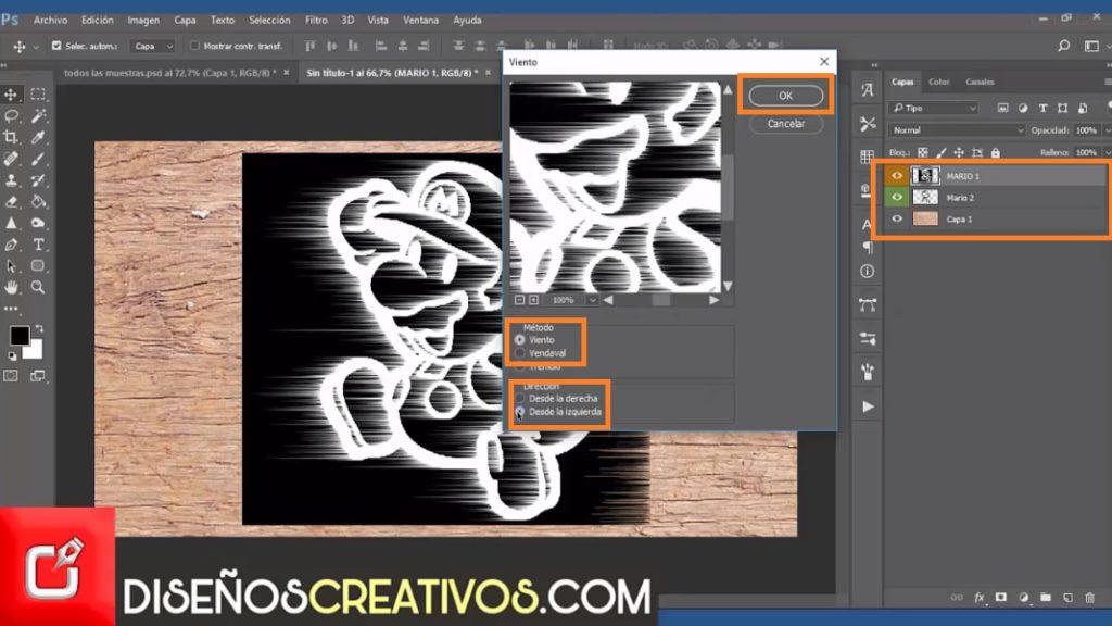 PHOTOSHOP CS6 TUTORIAL, como hacer imagen grabada en madera 4