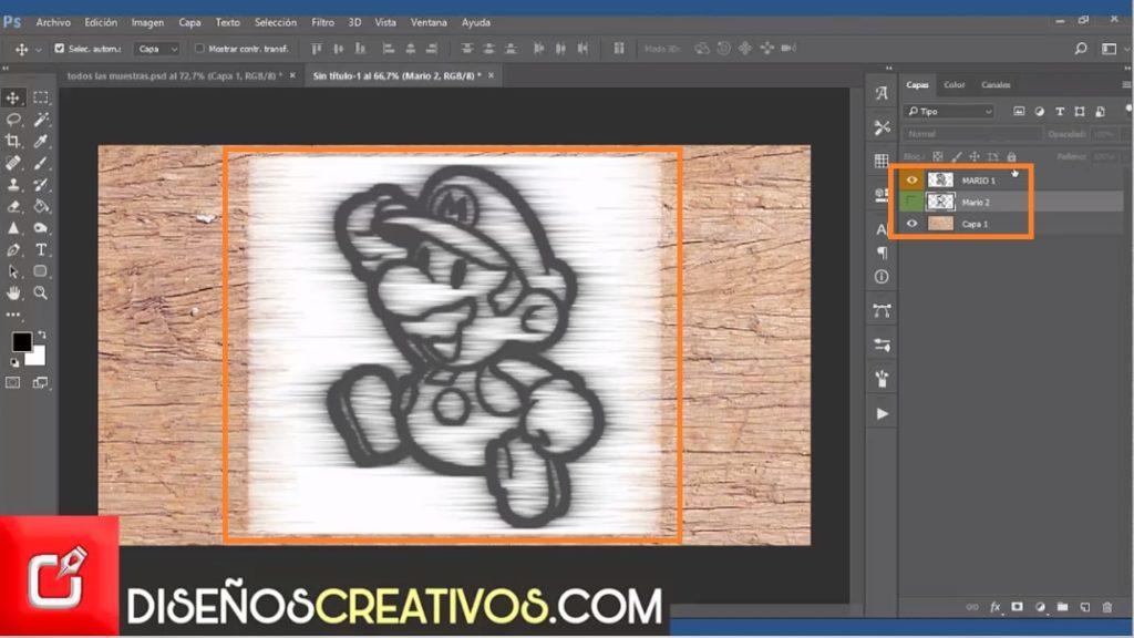 PHOTOSHOP CS6 TUTORIAL, como hacer imagen grabada en madera 5