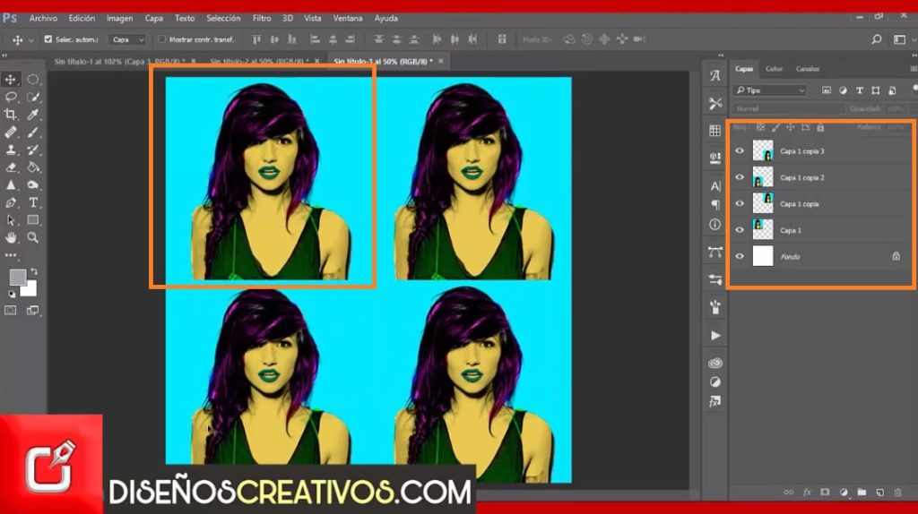 PHOTOSHOP TUTORIAL como hacer efecto pop art inspirado en Andy Warhol 5