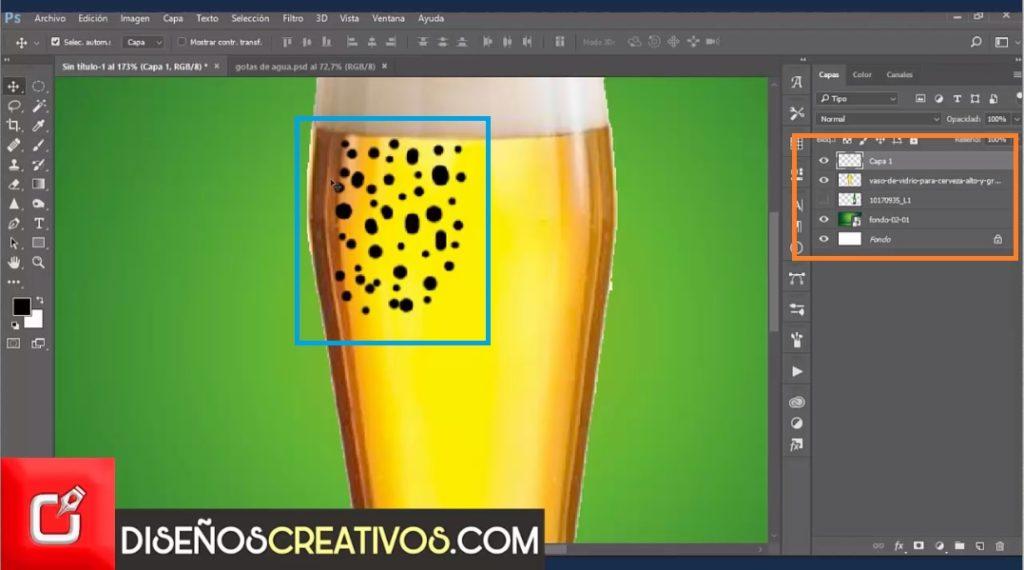 Photoshop tutorial como hacer efecto de gotas de agua reales 8
