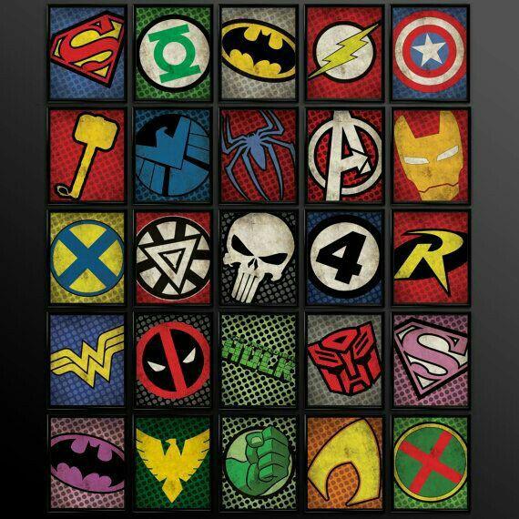 logos de superhéroes de marvel
