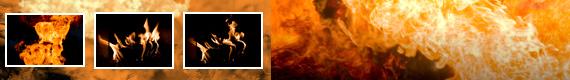 Pinceles para Photoshop de Fuego