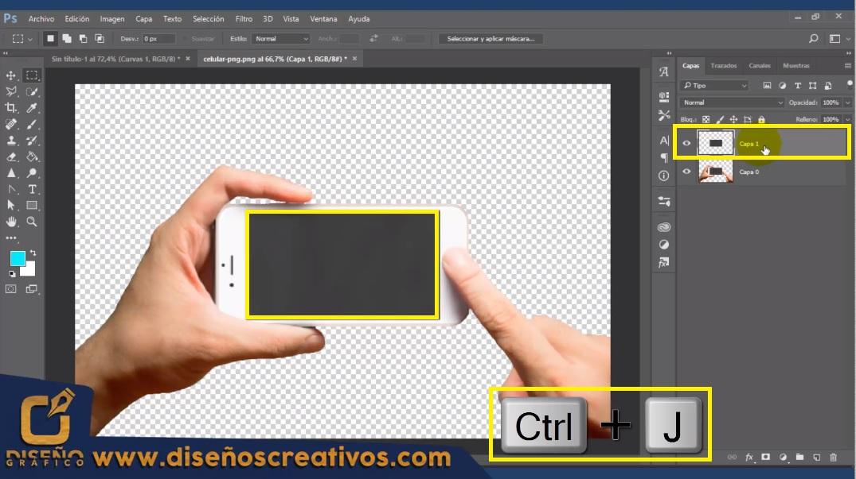 Mockups de celular con Photoshop