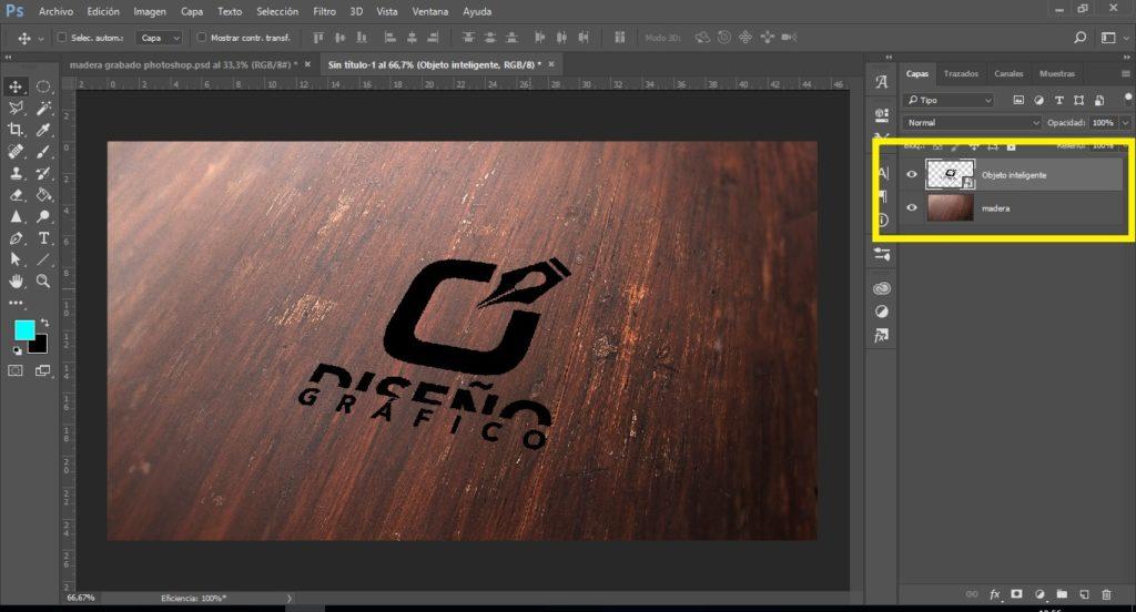 como grabar madera en photoshop
