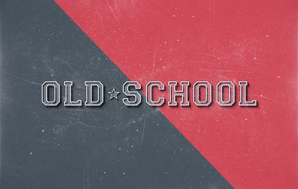 10 Efectos de TextoOLD SCHOOL