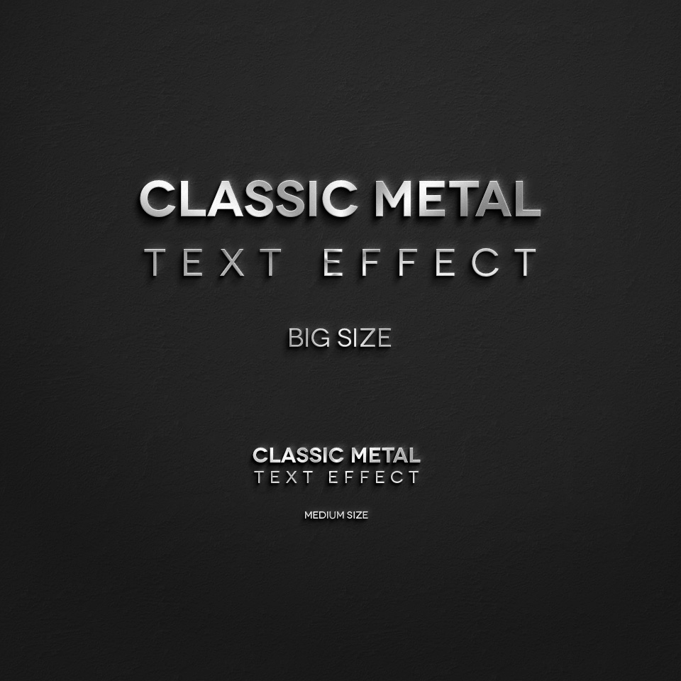 10 Efectos de Texto SIMPLE METAL