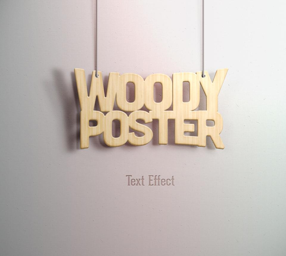 10 Efectos de TextoWOODY POSTER