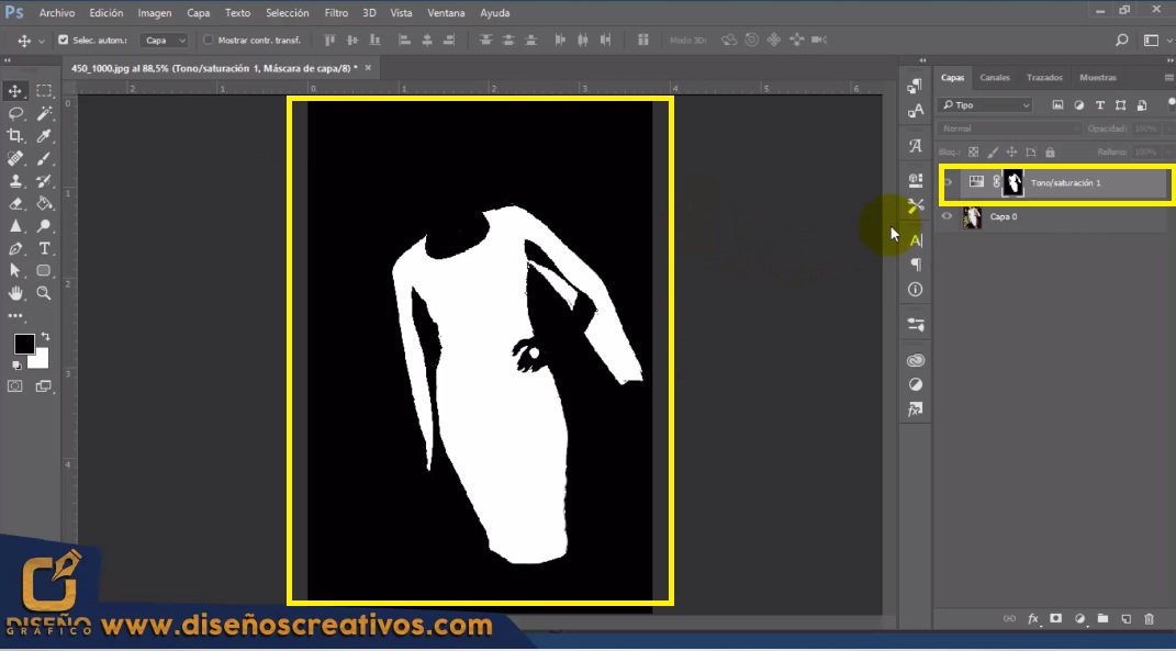 Como Cambiar de color Blanco a otro color en PHOTOSHOP Tutorial