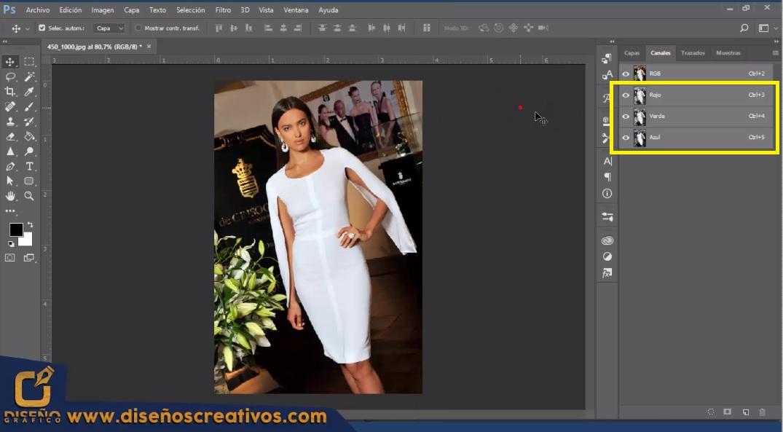 Como Cambiar de color Blanco a otro color en PHOTOSHOP Tutorial