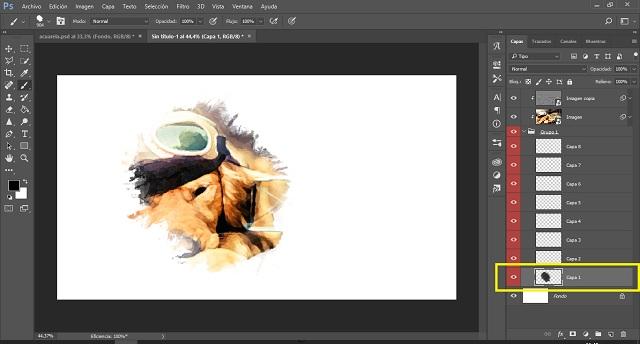 Efecto Acuarela con Animacion en PHOTOSHOP | Tutorial