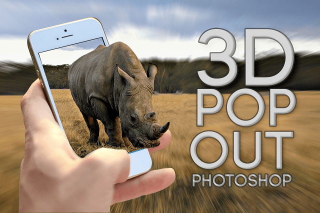 Como hacer un EFECTO 3D POP OUT en Photoshop