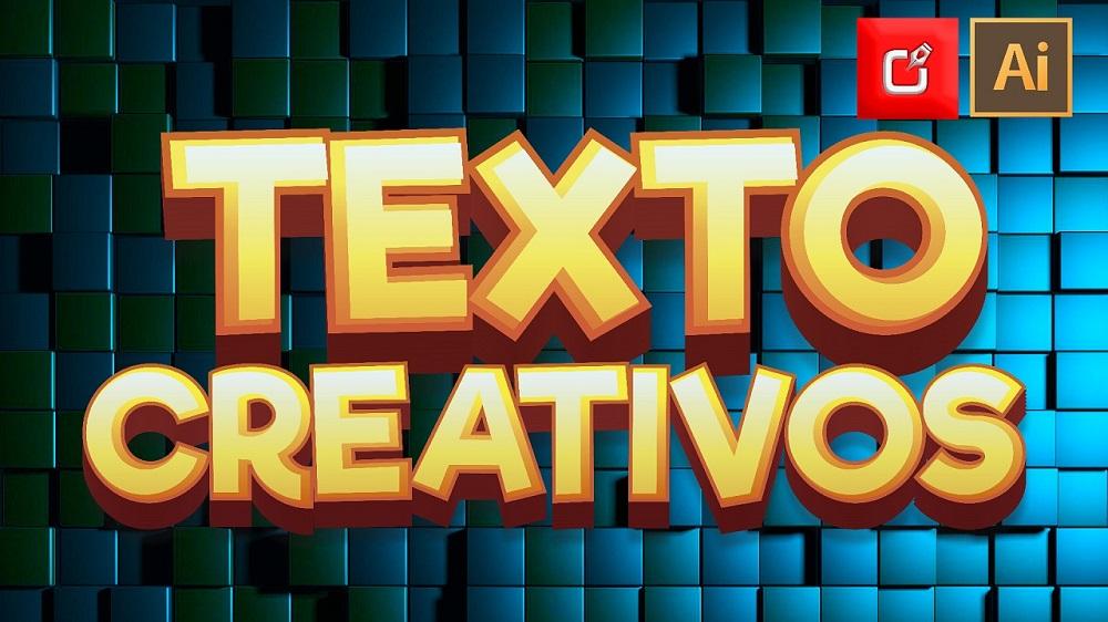 como hacer texto creativo illustrator