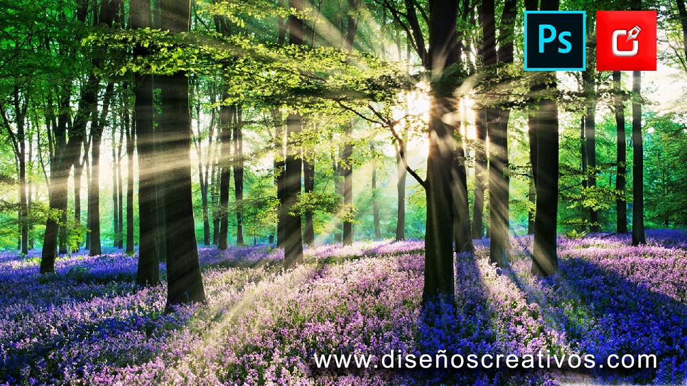 Efecto de rayo de luz enImágenes con Photoshop