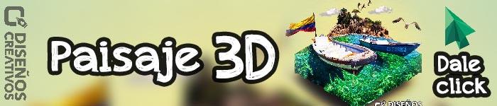 fotomontaje paisaje 3d diseños creativos