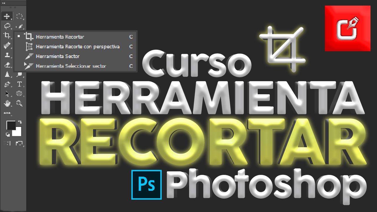 Herramienta de RECORTAR en Photoshop