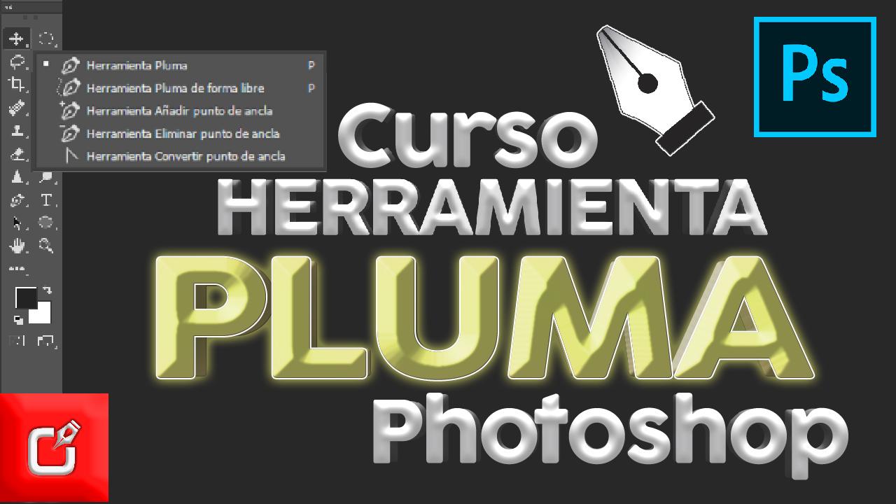 Herramienta PLUMA en Photoshop 2018