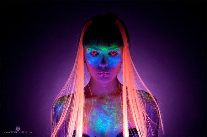20 fotos iluminadas por luces de neón y ultravioletas diseños creativos