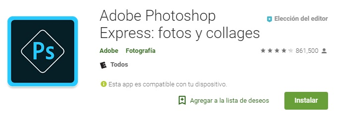 adobe photoshop express diseños creativos