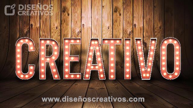 descarga texto 3d con luces diseños creativos 2