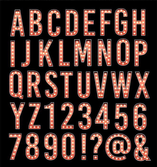 descarga texto 3d con luces diseños creativos 3