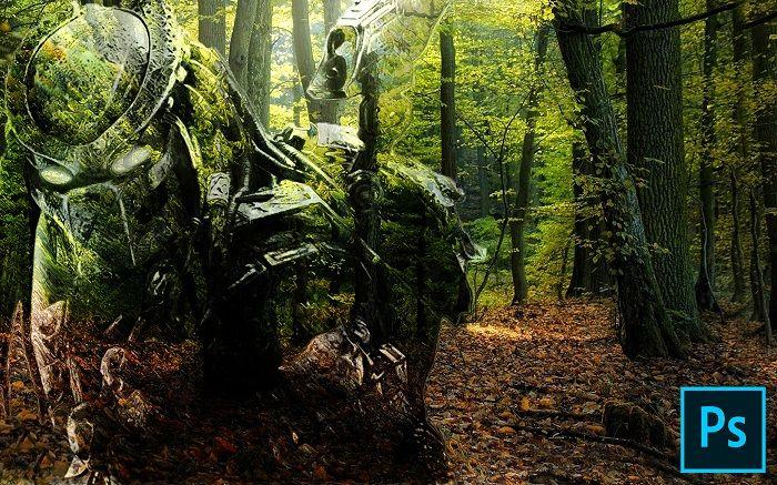 efecto camuflaje invisible en photoshop diseños creativos