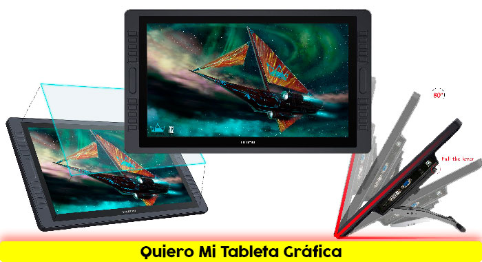 Tableta-gráfica-HUION KAMVAS GT-221 Pro HD IPS